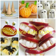 Round up of 10 easy, cute and healthy Halloween party food