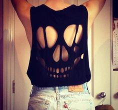 Faça você mesma uma blusa caveira