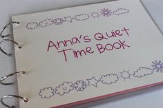 Print, laminate, velcro quiet book