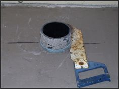 How to Install a Toilet Flange on a Concrete Slab | DIY | Pinterest ...