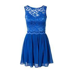 Open Back Dress Elise Ryan (295 RON) ❤ liked on Polyvore featuring dresses, elise ryan dress, elise ryan, open back dresses and blue dress