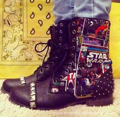 Mod Podge your own set of Star Wars Boots! All you need are two things... the…