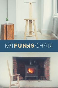 Funk's Chair is a worthy seat for any bottom! Get curious. Funky Chairs, Cool Chairs, Three Legged Stool, Wooden Stools, Handmade Wooden, Wooden Furniture, Chair Design, Cool Stuff, Home Decor