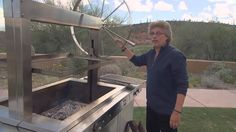 Barbecue and grilling expert Steven Raichlen featured the Kalamazoo Gaucho Grill on his latest television series Project Smoke. Watch as he rotisserie-roasts. Build A Pizza Oven, Steven Raichlen, Smoking Recipes, Fire Places, Cookers, Prime Rib, Gaucho, Roasts, Grilling Recipes