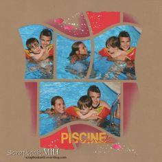 T T  Aujourd'hui je post ma dernière page de l'année 2015 :) avec ces photos de mes enfants dans la piscine au soleil mise en page avec la gabarit Ile Maurice de chez Azza. Je vous souhaite un bon réveillon et vous dis à l'année prochaine pour de nouvelles...