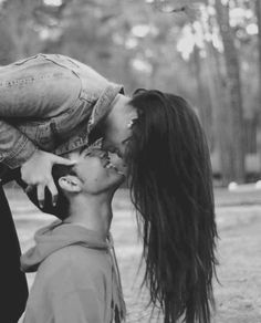 Love couple black and white spiderman kiss