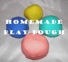 Homemade Play Dough — Tex-Mex in Croatia