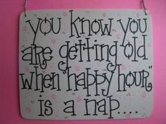 Happy Hour =nap time