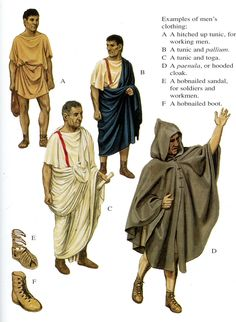 Pictures of Roman men's clothing