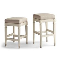 Elevate your home decor with comfortable and durable bar stools from Frontgate. Find high-quality, stylish kitchen counter stools and bar chairs online. Leather Counter Stools, Counter Height Bar Stools, Bar Counter, Island Chairs, Outdoor Dining Chair Cushions, Outdoor Furniture, Floor Protectors For Chairs, Backless Bar Stools, Vanity Countertop