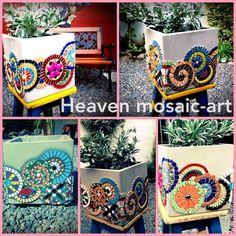 Mosaic Pots, Mosaic Flower Pots, Mosaic Garden, Pebble Mosaic, Mosaic  Glass, Garden Art, Mosaic Ideas, Tante, Art Ideas