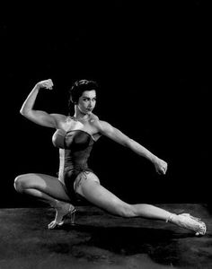 Kellie Everts, one of the first female bodybuilders and a campaigner for women's right to participate in the sport.