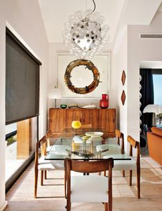 Oh WOW! We love how #eclectic this dining room is. #diningroominspiration  www.lamaisonware.com
