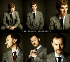 The Holmes Brothers--- Mark Gatiss should always style his facial hair like that