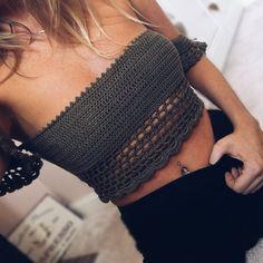 Crochet Off Shoulder Top Pattern Crochet Shirt, Diy Crochet, Crochet Top, Crochet Summer Tops, Crochet Bikini Top, Crochet Off Shoulder Top, Baby Dress Tutorials, Bralette Pattern, Crochet Fashion