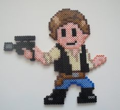 Han Solo Perler Bead Sprite by Nicolel12 on deviantart