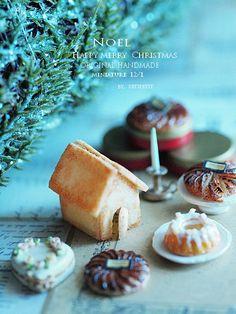 Dollhouse christmas. ミニチュア作り : natural色の生活~handmade家具