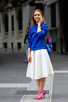 La fórmula infalible para llevar tu midi skirt : ELLE
