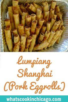 Easy Lumpia Recipe, Lumpia Recipe Filipino, Filipino Recipes, Asian Recipes, Asian Foods, Egg Roll Recipes, Pork Recipes, Gourmet Recipes, Appetizer Recipes