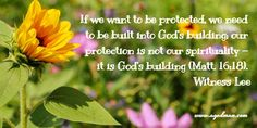 If we want to be protected, we need to be built into God's building; our…