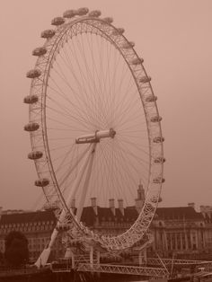 London Eye. Love this thing. Sarah and I rode it once. It was a trip. The best way to see all of London from the sky.