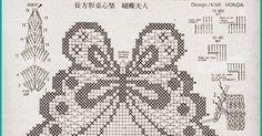 Szydełkomania: Bieżnik z motylami