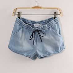 Denim + Drawstring