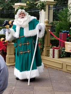 Father Christmas at the UK  Pavilion inside Epcot.