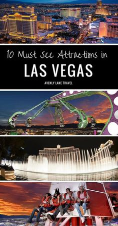 Las Vegas is one of the most exciting places in the world to visit. Read this before planning your next trip to Las Vegas! 10 attractions you can't miss in Las Vegas!