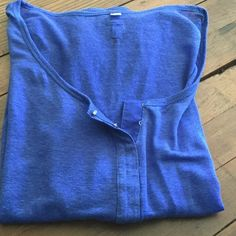 JOE'S Top Pretty blue top by JOE'S. Has one small flaw near left shoulder. See last pic. Not noticeable especially with a matching cami underneath. Great everyday quality shirt.  Joe's Jeans Tops Tunics