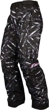 FXR Women's FRESH WAIST Pant - PRINT - Black-White Circuit - Snowmobile Gear