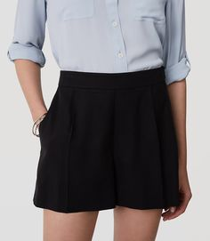 Primary Image of Pleated Shorts