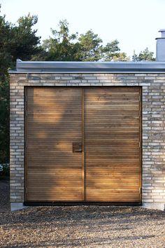 Swedish Oak Garage Door.