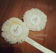 シフォンロゼットの作り方☆   Hina♡Diary 手作り結婚式準備記録・初ママ記録★*゜