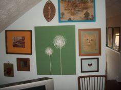 My very own Hipster Applebee's... attic guest bedroom.
