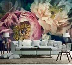 A beautifully bold floral designed wall mural by NZ artist Helen Bankers, featuring peonies. Each wall mural is designed and scaled to your wall measurements so it works perfectly with your interior. Flower Wallpaper, Wall Wallpaper, Wallpaper Ideas, Computer Wallpaper, Wallpaper Patterns, Unique Wallpaper, Wallpaper Designs, Contemporary Wallpaper, Beautiful Wallpaper