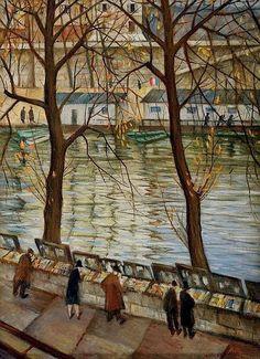 Autumn Day in Paris by Christopher Richard Wynne Nevinson.