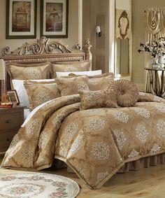 This Gold Delacour Comforter Nine-Piece Set is perfect! #zulilyfinds