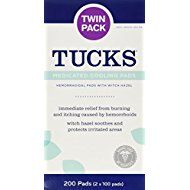 Tucks Medicated Cooling Pads 100 Pads Per Pack Pack Of 2