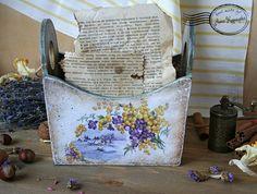 """Короб """" Лёгкая поступь весны..."""" - лукошко,корзиночка,короб для специй"""