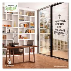 A peaceful library for the love of reading. #RajhansSynfonia  #RajhansGroupOfIndustries #Surat