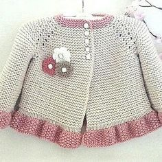 Discover thousands of images about Knitting PATTERN Baby Jacket Baby Cardigan Garter Stitch Knit Pattern Baby Girl Jacket Newborn Girl Coat Knitting Cardigan Baby PATTERN Cardigan Bebe, Knitted Baby Cardigan, Baby Pullover, Cardigan Pattern, Jacket Pattern, Baby Knitting Patterns, Baby Patterns, Crochet Patterns, Bernat Baby Sport Yarn