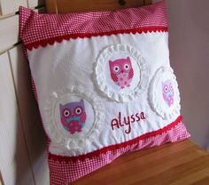 Owls baby cushion from Lizzieslovelies on Madeit