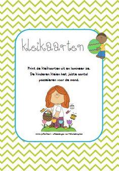 Kleikaarten Pasen - Klei de paaseieren in het mandje. Jufanke.nl