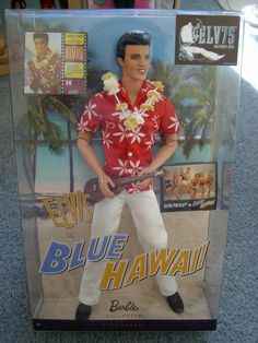 Elvis Presley in Blue Hawaii Doll Collection 2009 The King Pink Label #Mattel #DollswithClothingAccessories