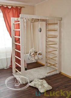 Cute Sprossenwand Kinderzimmer Wandschmuck Spielzimmer Klettern Irgendwann Kidsroom Zimmer Ideen Kleinem Raum Montessori Zimmer