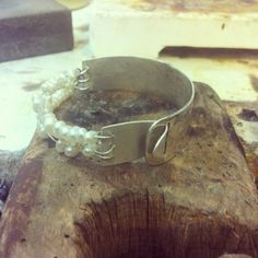 Bracelet, Silver, Pearl .