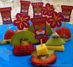Lots of free printables including these luau picks