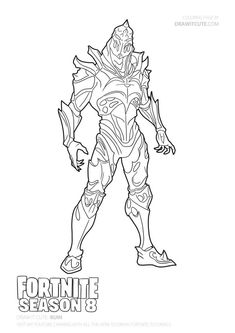 Fortnite Battle Royale Coloring Page Zenith Skin Places