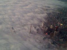 Cool photo of Toronto guest starring in Stephen King's The Mist on Imgur.